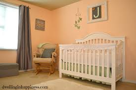 Peach Color Bedroom by Nursery Decor On A Budget Dwelling In Happiness