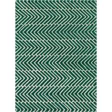 Green Chevron Area Rug Tribal Chevron Etchings Green Blue Rug 9 9 X 12 2 By Style
