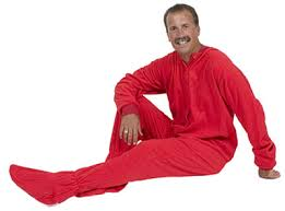 big pajamas fleece one footy