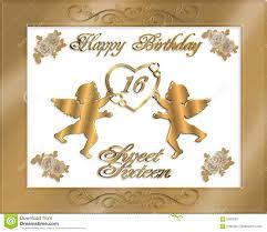 sweet sixteen birthday party invitation stock illustration image