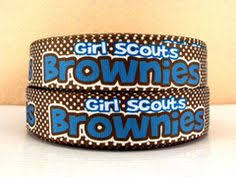 girl scout ribbon brownie girl scouts 7 8 grosgrain ribbon 3 yards by kbrs