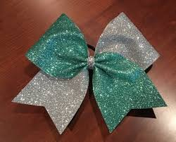 3 inch glitter ribbon this listing is for one cheer bow made with 3 inch ribbon and