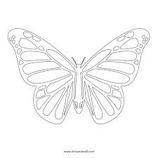 free butterfly stencil monarch butterfly outline and silhouette