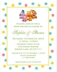 winnie the pooh baby shower invitations the pooh and friends ba shower invitations 5x7 baby shower