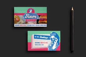 american diner business card template for photoshop u0026 illustrator