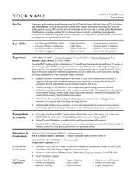 Sample Resume Military To Civilian by A Good Resume Example Http Www Resumecareer Info A Good Resume