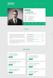 resume website template 15 best html resume templates for awesome personal