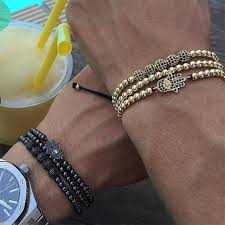men bracelet images 2017 3pcs set men bracelet micro pave black cz round bracelets jpg