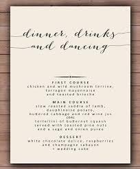 wedding menu templates wedding menu sles templates desorium