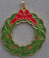 2015 wallace gold plated wonders of christmas holly wreath