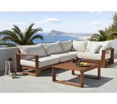 canapé teck jardin canape exterieur bois leclerc salon de jardin inds