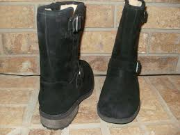 s ugg australia chaney boots ugg australia chaney black leather boot shearling lined water