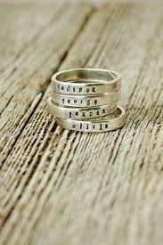 mothers rings stackable engraved dainty stackable personalized ring ring and gift
