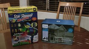 points of light review star shower vs philips laser holiday light review christmas