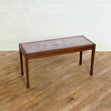 edwardian mahogany coffee table with tapestry top antiques atlas