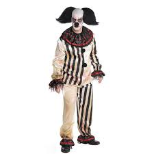 Evil Clown Halloween Costume Mens Halloween Scary Killer Clowns U0026 Jesters Fancy Dress Costumes