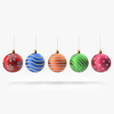 3d model christmas ornaments cgtrader