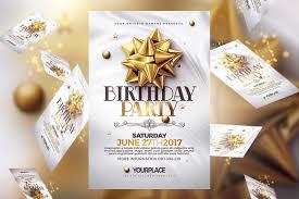 birthday invitation 3 psd template templates creative market