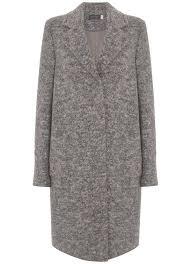 grey boyfriend wool blend coat
