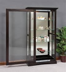 Cabinet With Sliding Doors Mission Sliding Door Curio Cabinet