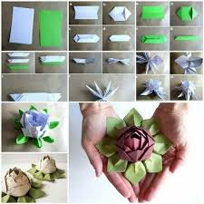 Lotus Blossom Origami - 18 best projects to try images on craft ideas
