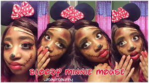 Minnie Mouse Halloween Makeup by Bloody Minnie Mouse Makeup 4 Halloween 2016 Youtube
