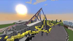 Six Flags New England Map by Minecraft Six Flags Great Adventure Update 1 Youtube