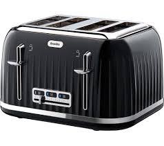 Breville 4 Slice Smart Toaster Buy Breville Impressions Vtt476 4 Slice Toaster Black Free