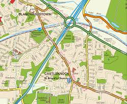 Dublin Ireland Map Parish Of Castleknock And Mulhuddart With Clonsilla Worship