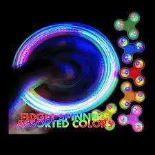 fidget spinner light up blue led light up edc fidget spinner in assorted colors magic matt s