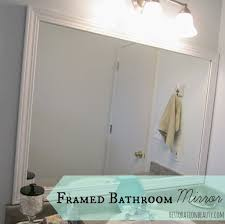 Large Bathroom Mirrors by Bathroom Rectangular White Framed Bathroom Mirror With Lighting