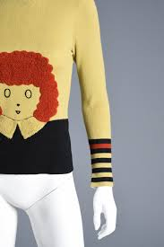 1970s graphic orphan novelty sweater bustown modern