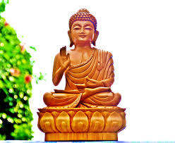 Buddha Statues Home Decor by Abhaya Buddha Statue Wooden Sculpture Handcarved Divine