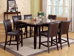 7 piece counter height dining room sets impressive high dining table sets with regard to 7 piece counter