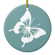 blue and white butterfly ornaments keepsake ornaments zazzle