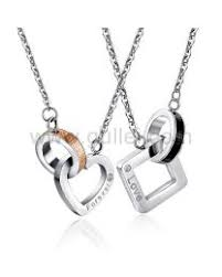 custom necklace pendants personalized engraved matching couples necklaces set for two