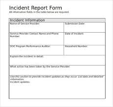 incident report form template word incident report form template word employee print lovely
