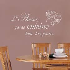 autocollant cuisine mural lettrage l amour ça se cuisine tous les jours