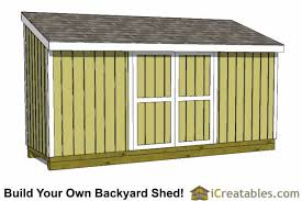 5x20 lean to shed plans 5x20 shed plans