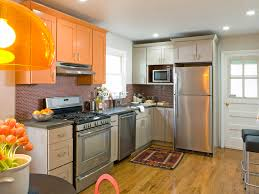 kitchen style small kitchen desing orange cabinets small