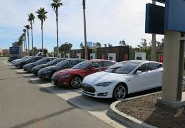 golden fast cars tesla u0027s first used showroom is now open in the golden state