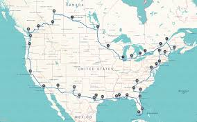 United States Road Trip Map by North American Roadtrip U2013 Christian Nomads
