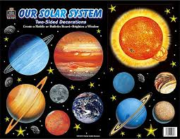 solar system 2 sided decorations tcr4979 created resources