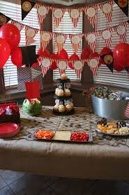 pirate theme party centerpiece food table at a pirate birthday party birthday