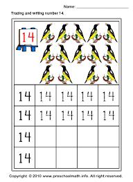 free preschool writing number worksheets