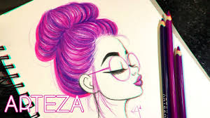 how to draw and color hair in a bun ft arteza color pencils