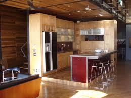 appliances round wooden coffee table with u shape kitchen design