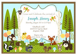 woodland baby shower invitations j g design studio woodland friends diy collection birthdays