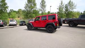 big red jeep 2017 jeep wrangler unlimited firecracker red clearcoat