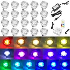 Low Voltage Soffit Lighting Kits by Qaca 20pcs Low Voltage Led Deck Lights Kits Multi Color Rgb